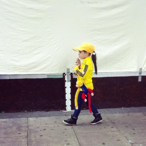 A young Colombian fan in N15