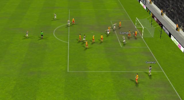Gomez crosses, Coman scores. Simple.