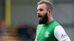 Rowan Vine and his beard in his Hibernian days. Photo courtesy of SNS/BBC.
