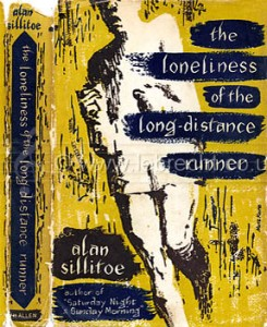 Alan Sillitoe 's novel 'The Loneliness of the Long-Distance Runner', hardback version. b. 1928. Published by W.H. Allen, London.